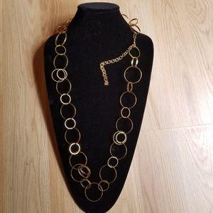 Estee Lauder Jewelry - Estee Lauder Gold Chain Loop Necklace